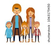 family parents and childrens... | Shutterstock .eps vector #1063175450