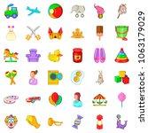 children in home icons set.... | Shutterstock . vector #1063179029