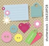 cute scrap book elements | Shutterstock .eps vector #106318928