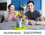 romantic couple. beautiful...   Shutterstock . vector #1063199960