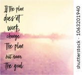 quote   if the plan doesn't... | Shutterstock .eps vector #1063201940