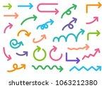 colorful arrow  vector... | Shutterstock .eps vector #1063212380