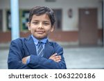 closeup portrait of smiling 6 7 ... | Shutterstock . vector #1063220186
