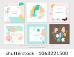 vector abstract covers... | Shutterstock .eps vector #1063221500