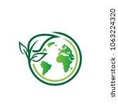 eco leaf logo   Shutterstock .eps vector #1063224320