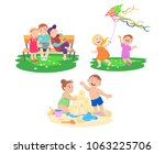 set of cliparts of children who ... | Shutterstock .eps vector #1063225706