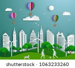 concept of eco friendly save... | Shutterstock .eps vector #1063233260