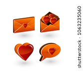 love vector icons set  heart 3d ... | Shutterstock .eps vector #1063235060