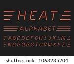 heat italic font. vector...   Shutterstock .eps vector #1063235204
