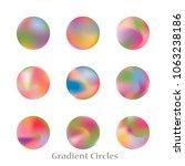 round gradient set of vibrant... | Shutterstock .eps vector #1063238186