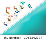 isometric graphic design... | Shutterstock .eps vector #1063242374