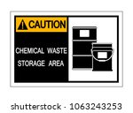 caution chemical waste storage... | Shutterstock .eps vector #1063243253