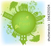 green ecological planet | Shutterstock .eps vector #106325324