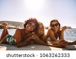 group of beautiful women... | Shutterstock . vector #1063262333