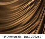 luxury golden liquid or wave... | Shutterstock . vector #1063264268