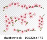apricot blossom branches... | Shutterstock .eps vector #1063266476