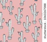 cactus in a pot    Shutterstock .eps vector #1063267088