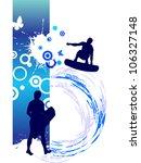 surfer on summer background  ... | Shutterstock .eps vector #106327148