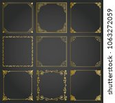 decorative gold frames and... | Shutterstock .eps vector #1063272059
