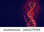 dna helix. hi tech technology...   Shutterstock . vector #1063275599