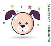 vector image of a puppy design... | Shutterstock .eps vector #1063279550