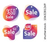 sale label vector set   shop... | Shutterstock .eps vector #1063281269