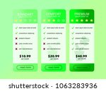 set of offer tariffs. interface ... | Shutterstock .eps vector #1063283936