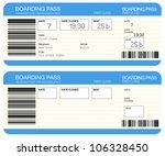 airline boarding pass tickets | Shutterstock . vector #106328450