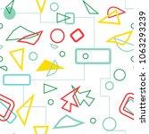 classic vector geometric... | Shutterstock .eps vector #1063293239