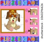 vector illustration of jigsaw... | Shutterstock .eps vector #1063296626
