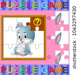 vector illustration of jigsaw... | Shutterstock .eps vector #1063297430