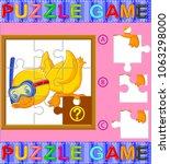 vector illustration of jigsaw... | Shutterstock .eps vector #1063298000