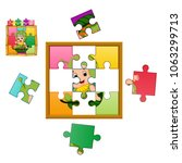 vector illustration of jigsaw... | Shutterstock .eps vector #1063299713