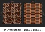 laser cutting set. woodcut...   Shutterstock .eps vector #1063315688