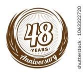 48 years anniversary.... | Shutterstock .eps vector #1063322720