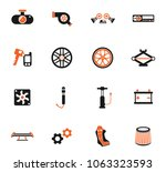 car shop color vector icons for ... | Shutterstock .eps vector #1063323593