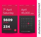 pedometer app concept design ux ...