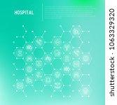 hospital concept in honeycombs... | Shutterstock .eps vector #1063329320