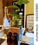 Small photo of Beautiful decoration and lunch in lovely ambiance with money plant around :)