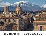 view on via etnea in catania.... | Shutterstock . vector #1063331633