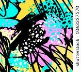 paint strokes seamless pattern... | Shutterstock .eps vector #1063337570