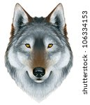 Acrylic Painting Of A Wolf\'s...