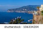 panorama of sorrento  gulf view.... | Shutterstock . vector #106334204