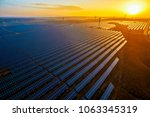 aerial sunset outdoor new... | Shutterstock . vector #1063345319