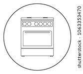 kitchen stove  icon black color ... | Shutterstock .eps vector #1063353470