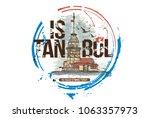 the maiden's tower  kiz kulesi  ...   Shutterstock .eps vector #1063357973