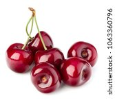 sweet cherry isolated on white... | Shutterstock . vector #1063360796