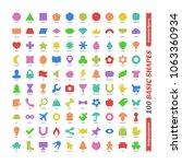 large color basic geometric...   Shutterstock .eps vector #1063360934