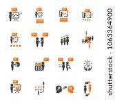 business training icon set | Shutterstock .eps vector #1063364900