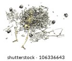 A Pile Of Human Bones With An...